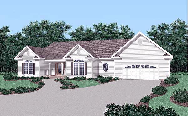 Traditional House Plan 45499 Elevation