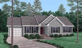 Plan Number 45502 - 1297 Square Feet