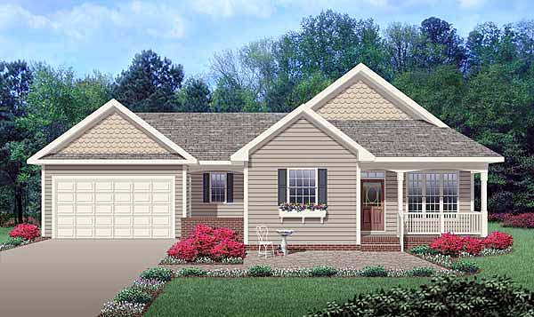 Ranch Traditional House Plan 45514 Elevation