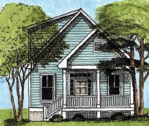 House Plan 45633 Elevation