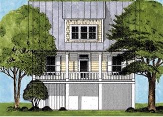 Coastal House Plan 45635 Elevation