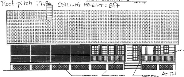 Country Traditional House Plan 45641 Rear Elevation
