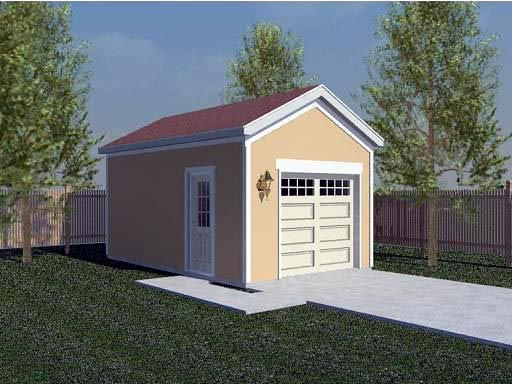 Garage Plan 45766 Elevation