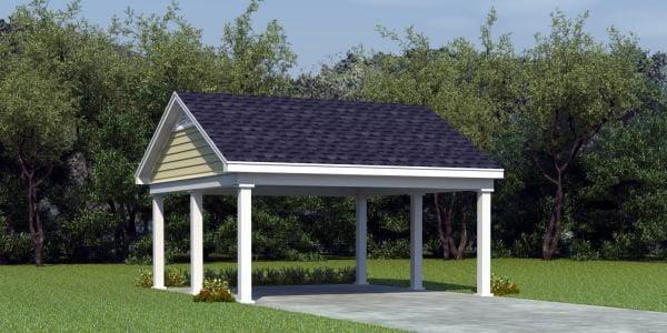 2 Car Garage Plan 45770 Elevation