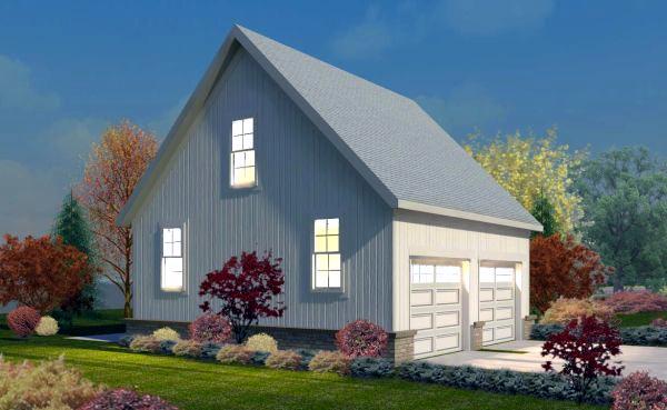Garage plan 45788 at for Gable garage plans