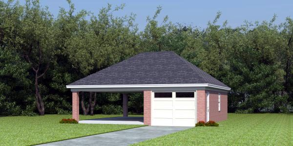 detached garage with carport plans