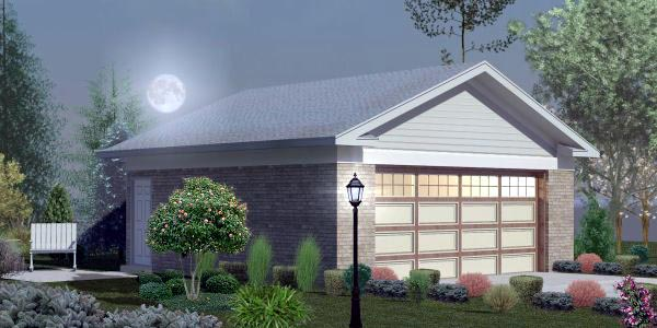 2 Car Garage Plan 45793 Elevation