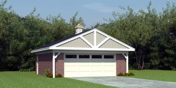 2 Car Garage Plan 45795 Elevation