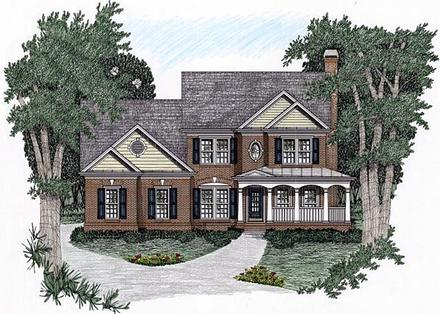 Traditional Elevation of Plan 45825