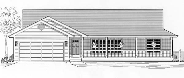 House plan 46045 at for Modular quadplex