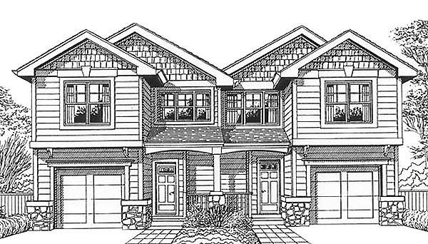 Craftsman Multi-Family Plan 46190