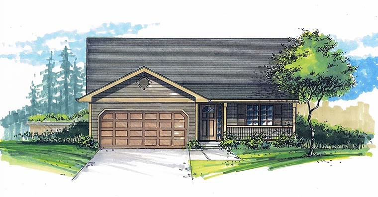 Ranch House Plan 46269 Elevation