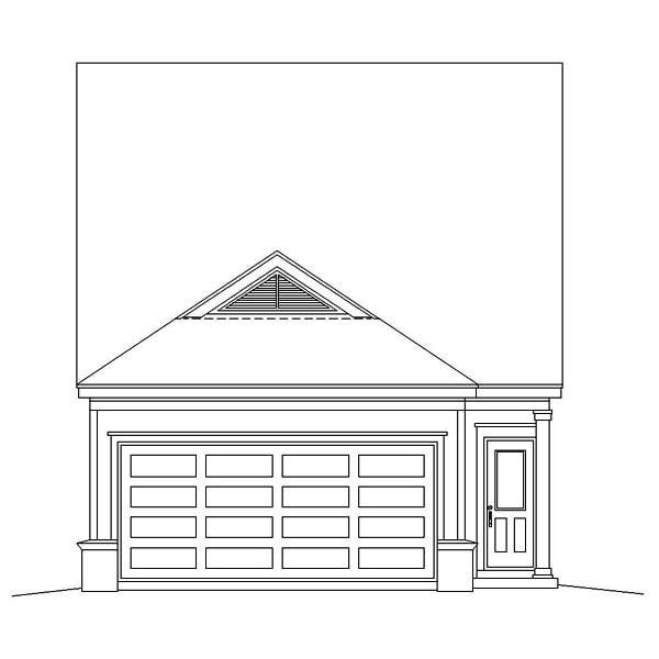 Ranch House Plan 46358 Rear Elevation