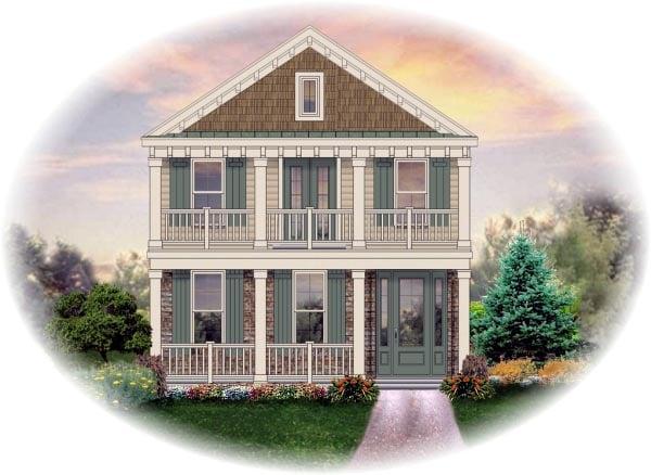 House Plan 46369 Elevation
