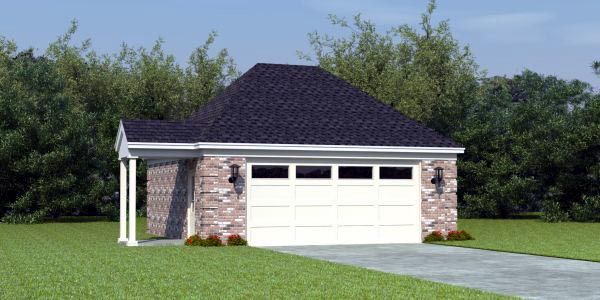 Garage Plan 46374 at FamilyHomePlans – Garage Plans And Prices