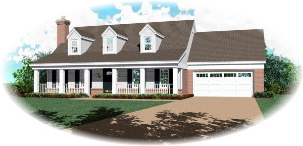 Southern House Plan 46377 Elevation