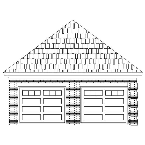 Traditional 2 Car Garage Plan 46423 Picture 1