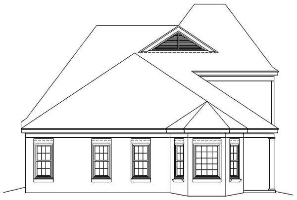 European House Plan 46436 Rear Elevation