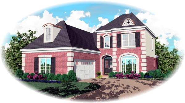 European House Plan 46531 Elevation