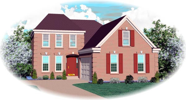 European House Plan 46535 Elevation