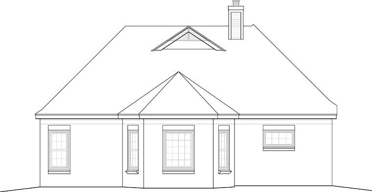 Traditional House Plan 46555 Rear Elevation