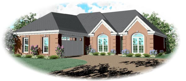 European House Plan 46564 Elevation