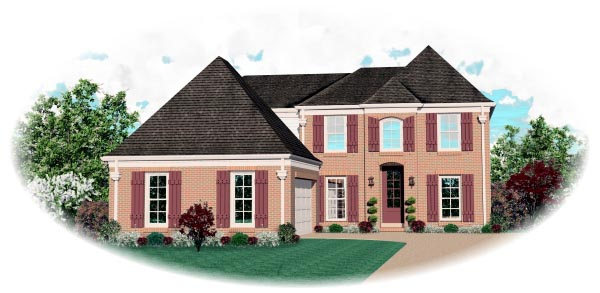 European House Plan 46587 Elevation