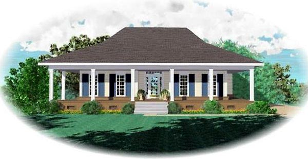 Country House Plan 46604 Elevation