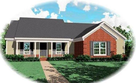 House Plan 46609 Elevation
