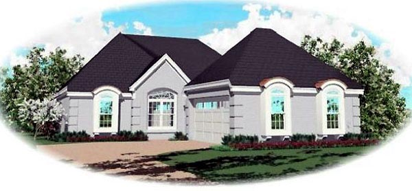 Traditional House Plan 46624 Elevation