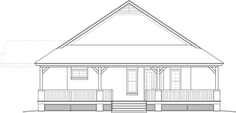Country, Farmhouse, Ranch, Southern House Plan 46666 with 3 Beds, 2 Baths Picture 1