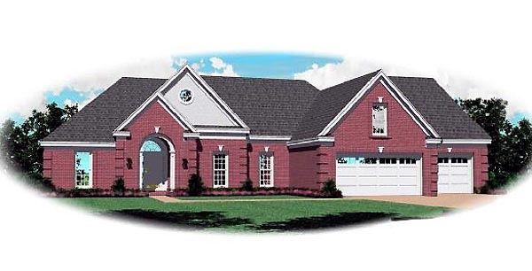 Traditional House Plan 46729 Elevation