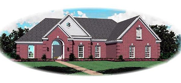 Traditional House Plan 46732 Elevation
