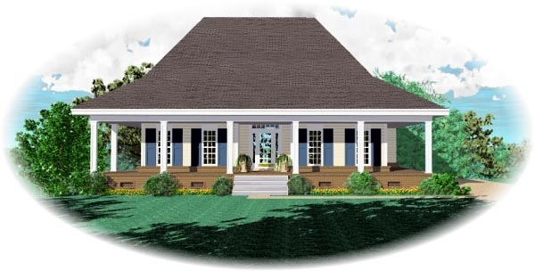 Country House Plan 46751 Elevation