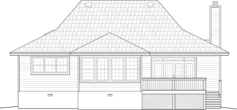 Country House Plan 46751 Rear Elevation
