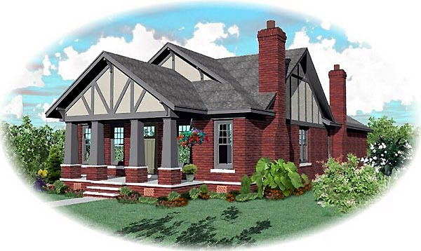 Bungalow House Plan 46809 Elevation