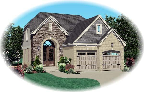 House Plan 46884 Elevation