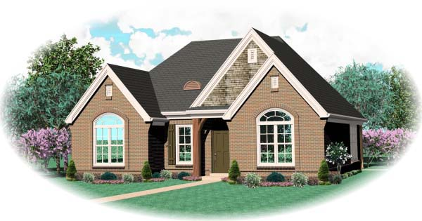 House Plan 46954 Elevation