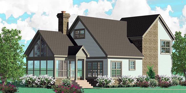 Traditional House Plan 46994 Elevation