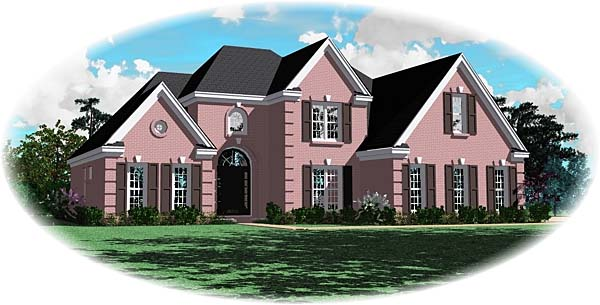 Traditional House Plan 47004 Elevation