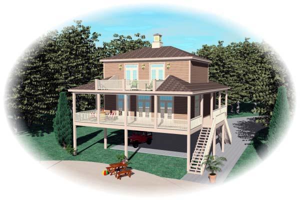 House Plan 47006 Elevation