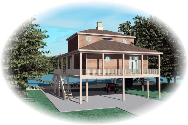 House Plan 47006 Rear Elevation