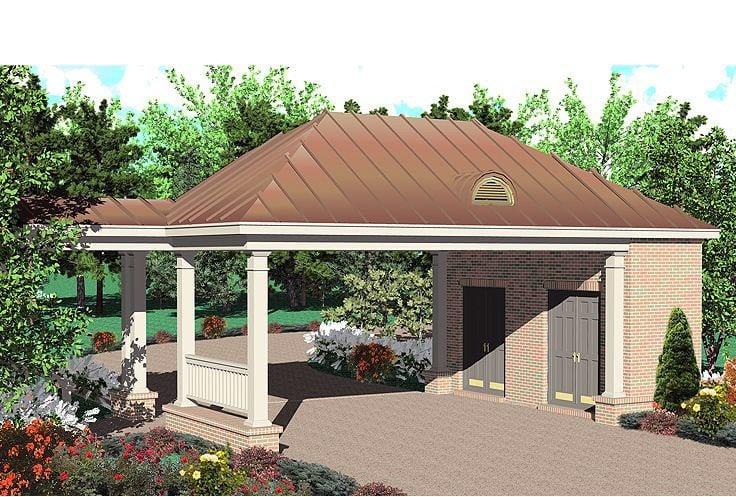 Garage Plan 47051 Elevation