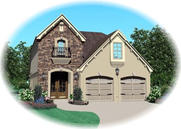 House Plan 47066 Elevation