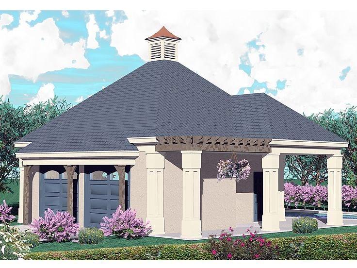 Coastal Country Garage Plan 47071 Elevation