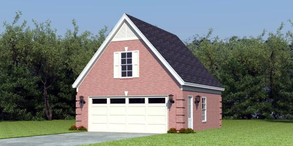 Brick detached garage images for Brick garage plans