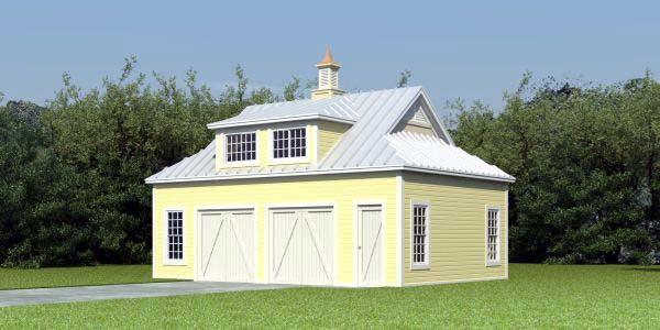 Farmhouse Garage Plan 47094