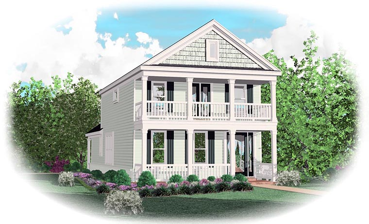 Traditional House Plan 47095 with 4 Beds, 3 Baths Elevation