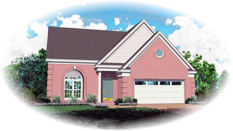 Traditional House Plan 47096 with 3 Beds, 3 Baths, 2 Car Garage Elevation