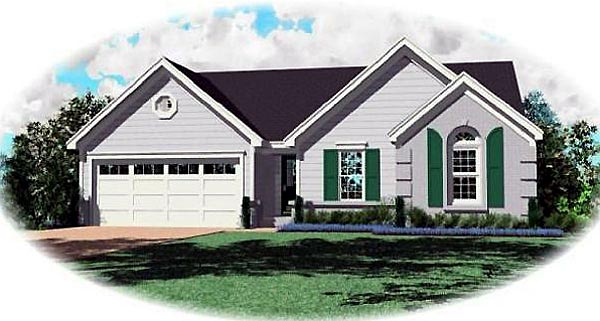 Traditional House Plan 47134 Elevation